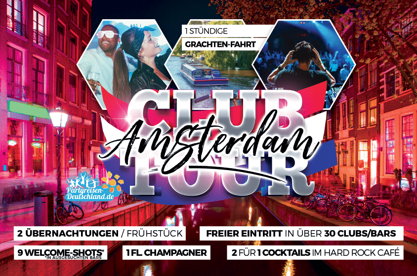 Wochenende Amsterdam - Club Tour Party