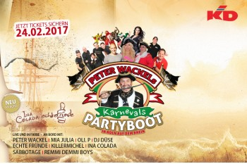 Peter Wackel´s Karnevals Boot 2017!